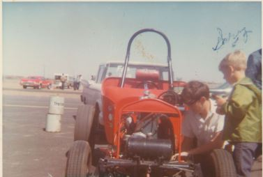 Gary with Dad's Race Car